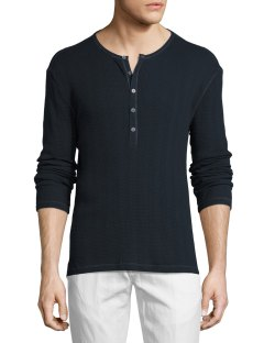 John Varvatos Star USA Marine Thermal Henley T-Shirt