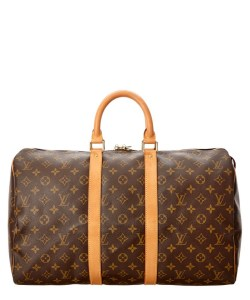 Louis Vuitton Monogram Canvas Keepall 45 Handbag