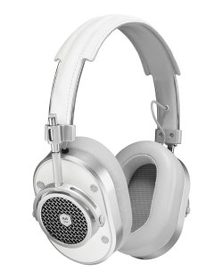 Master & Dynamic MH40 White & Silver Over-Ear Headphones