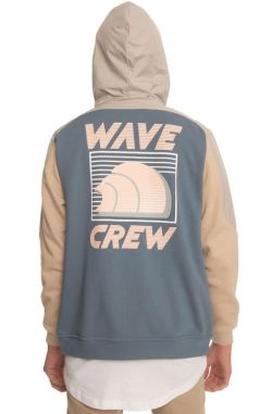 Pink Dolphin The Wave Crew Hybrid Zip Up Sweatshirt