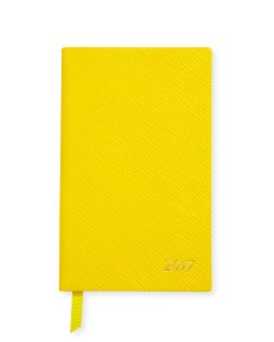 Smythson 2017 Panama Yellow Diary / Agenda Datebook