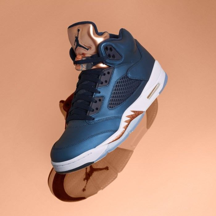 Air Jordan 5 Retro Bronze Mens Shoes