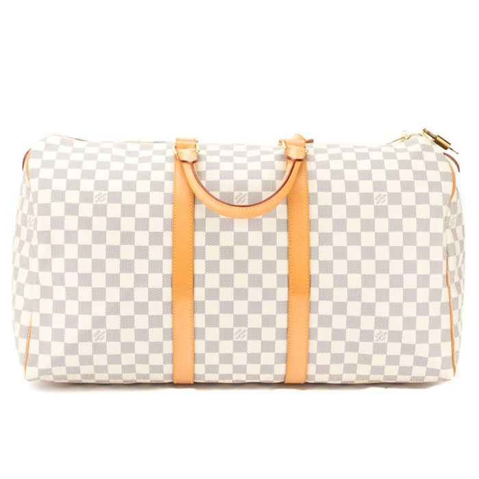 Louis Vuitton Vintage Damier Azur Canvas Keepall 50 Handbag