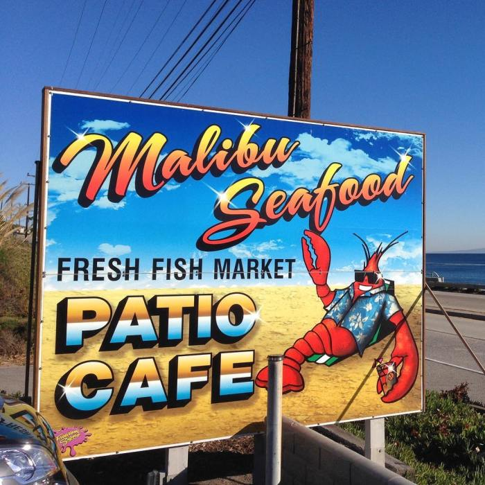 Malibu seafood fresh fish market patio cafe malibu mart for Malibu seafood fresh fish market patio cafe