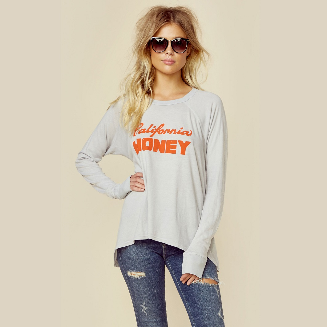 California Honey Zoe Raglan Tee by MATE The Label