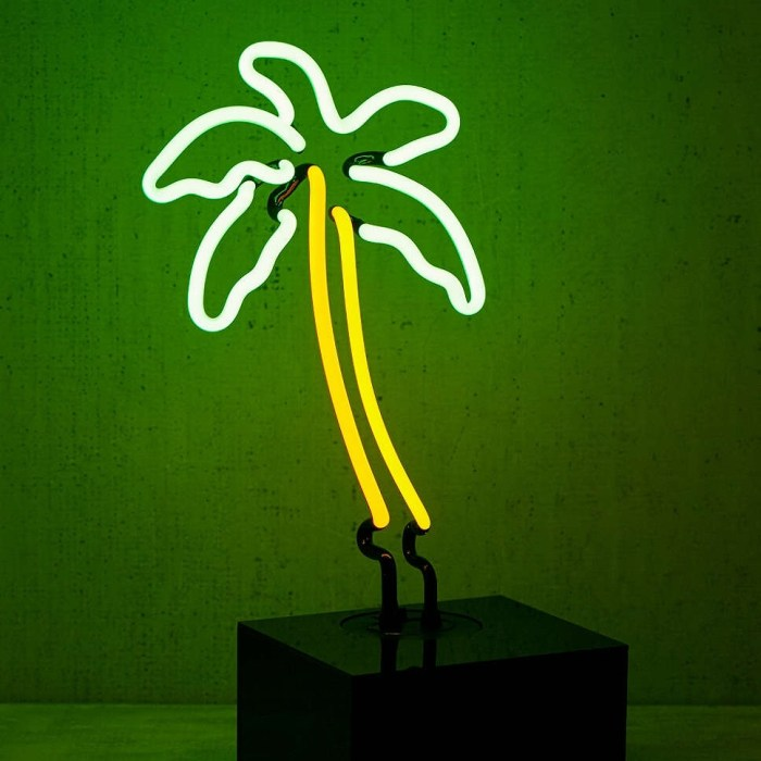 Palm Tree Table Lamp by Neon Mtg.