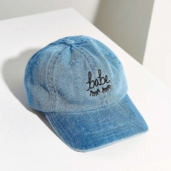 Babe Denim Baseball Hat by The Style Club