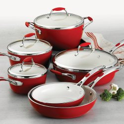 Tramontina 10-Piece Gourmet Ceramica Metallic Red Deluxe Cookware Set