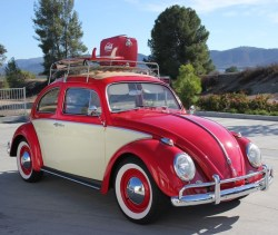 Volkswagen Beetle Ragtop 1962 Red California Classic Beach Cruiser