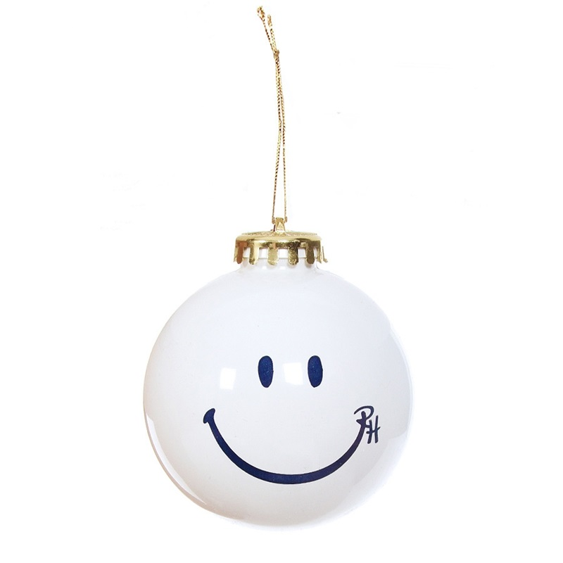 Set of 6 RH Happy Face Ornaments By Ron Herman