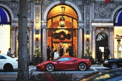 Happy Holidays! Ferrari 488 GTB at the Beverly Wilshire Hotel