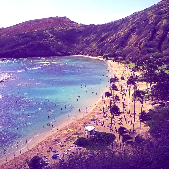 Hanauma Bay Nature Preserve in Honolulu Hawaii