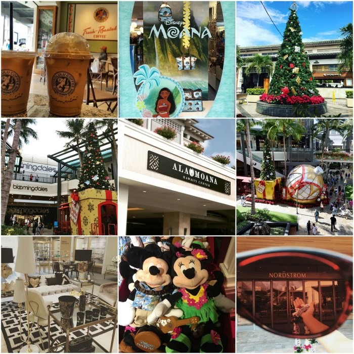 Holiday Shopping at the Ala Moana Center, the Largest Shopping Mall in Hawaii
