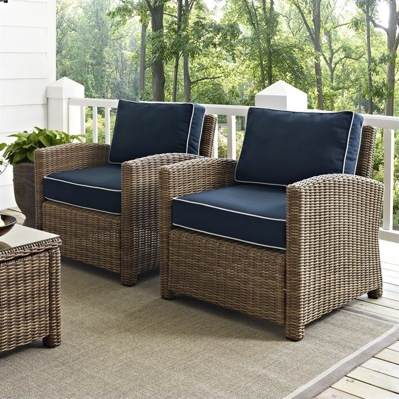 Crosley Furniture Bradenton 2 Piece Outdoor Wicker Seating Set