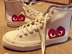 Comme des Garçons PLAY x Converse Chuck Taylor 'Hidden Heart' High Top Sneakers