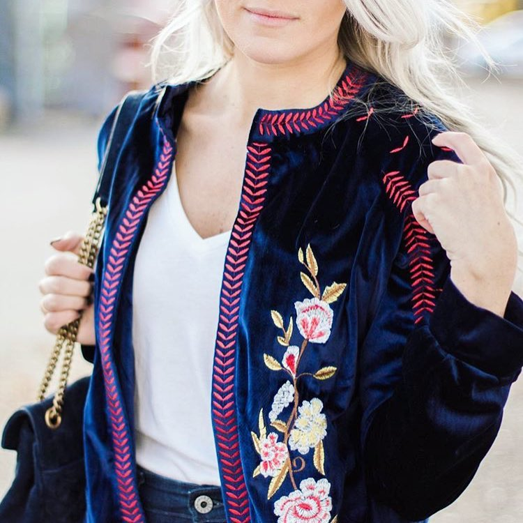 Ella Embroidered Velvet Jacket