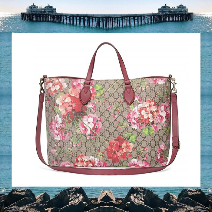Gucci GG Blooms Top-Handle Rose Tote Bag