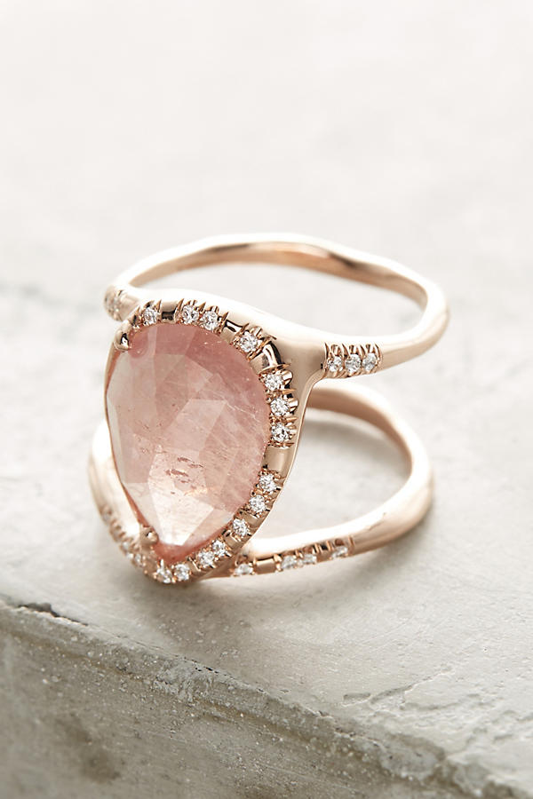 Pink Sapphire Infinity Ring
