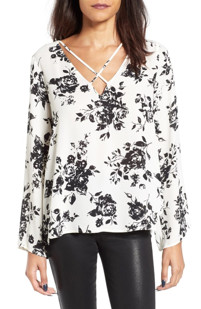 Lush Cross Front Blouse