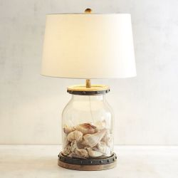 Fillable Seashell Beach Decor Table Lamp
