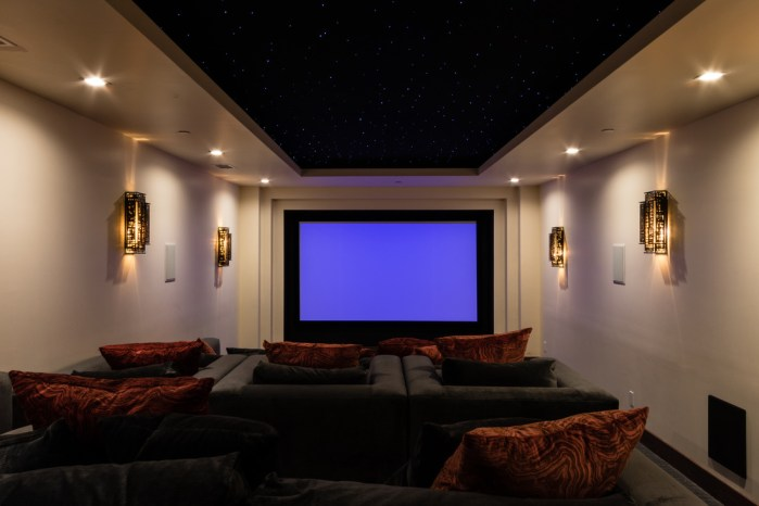 Home Theater in Balinese Style Malibu Beach House