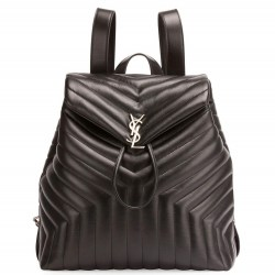 Saint Laurent Monogram Large Y-Quilted Black Backpack