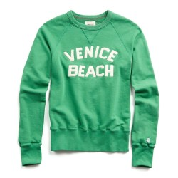 Venice Beach Champion Graphic Sweatshirt in Kelly Green by Todd Snyder
