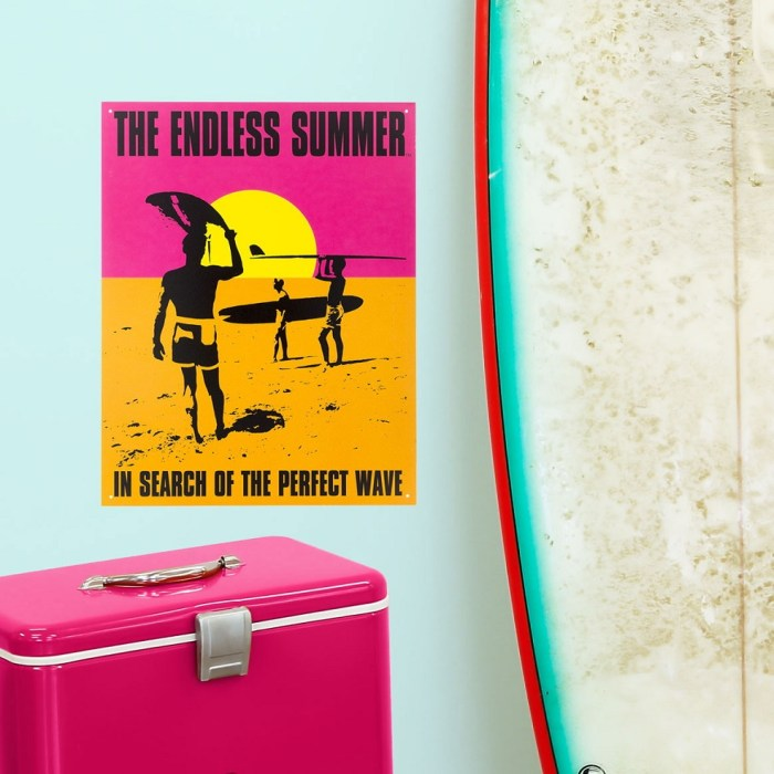 Endless Summer Surfing Movie Sunset Tin Sign