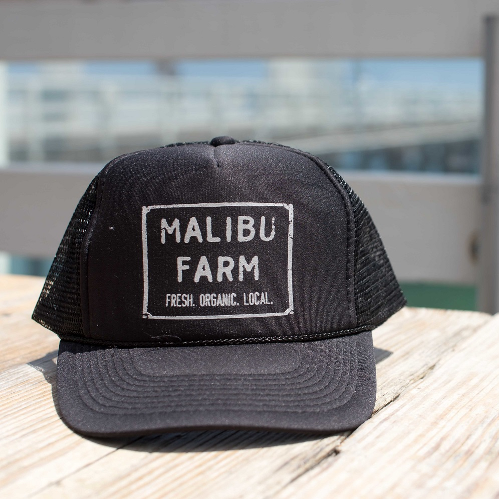 MALIBU FARM Restaurant & Cafe Black Trucker Hat