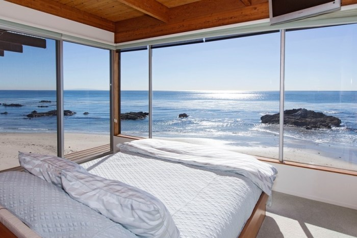 Priceless Beachfront Bedroom View at this Malibu Road Home