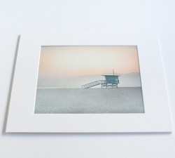 Pink Venice Beach Lifeguard Tower' Wall Art, California Coastal Beach Decor, 8×10 Mat ...