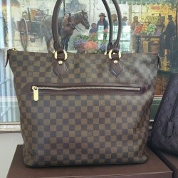 Saleya GM Louis Vuitton Shoulder Bag Damier Ebene Large Tote Shopping Handbag