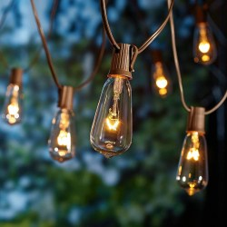 Glass Edison String Lights 10 Count by Better Homes and Gardens