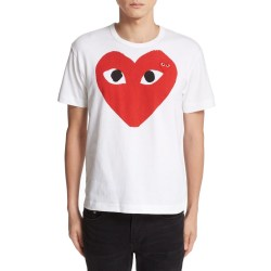 PLAY Heart Face Graphic T-Shirt by COMME DES GARÇONS