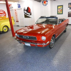 1966 Ford Mustang Red Convertible Classic Car