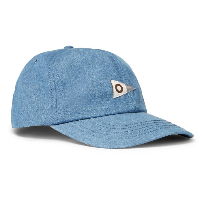 Mollusk Cotton-Chambray Baseball Cap