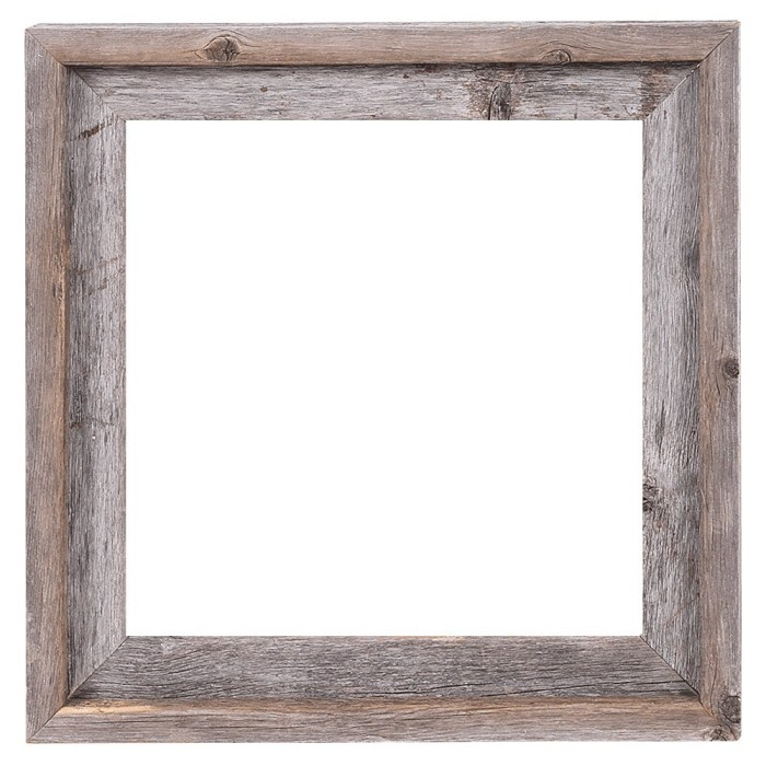 Rustic Decor Reclaimed Barn Wood Open Picture Frame
