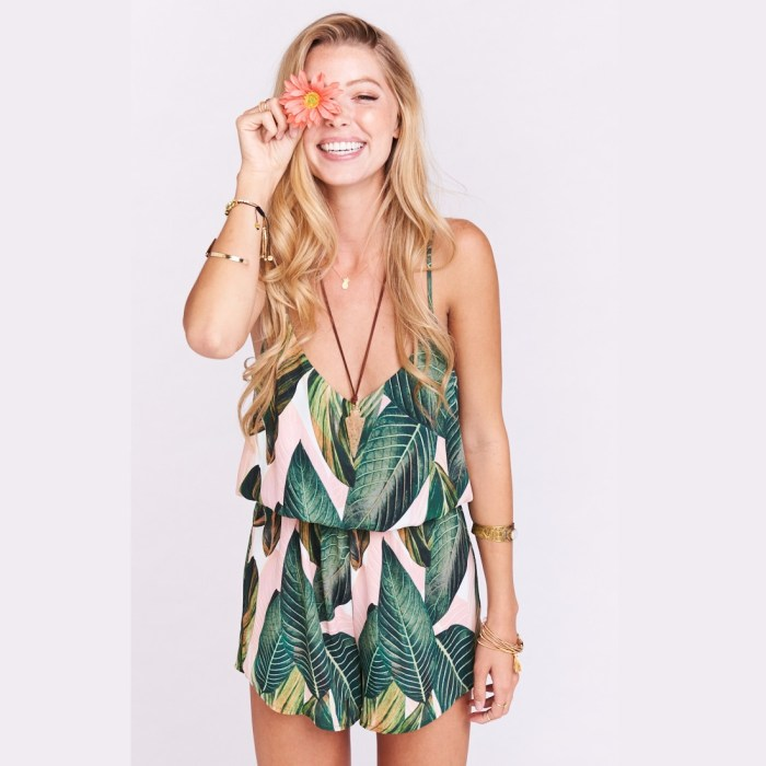 Rorey Peachy Palm Romper By Show Me Your Mumu