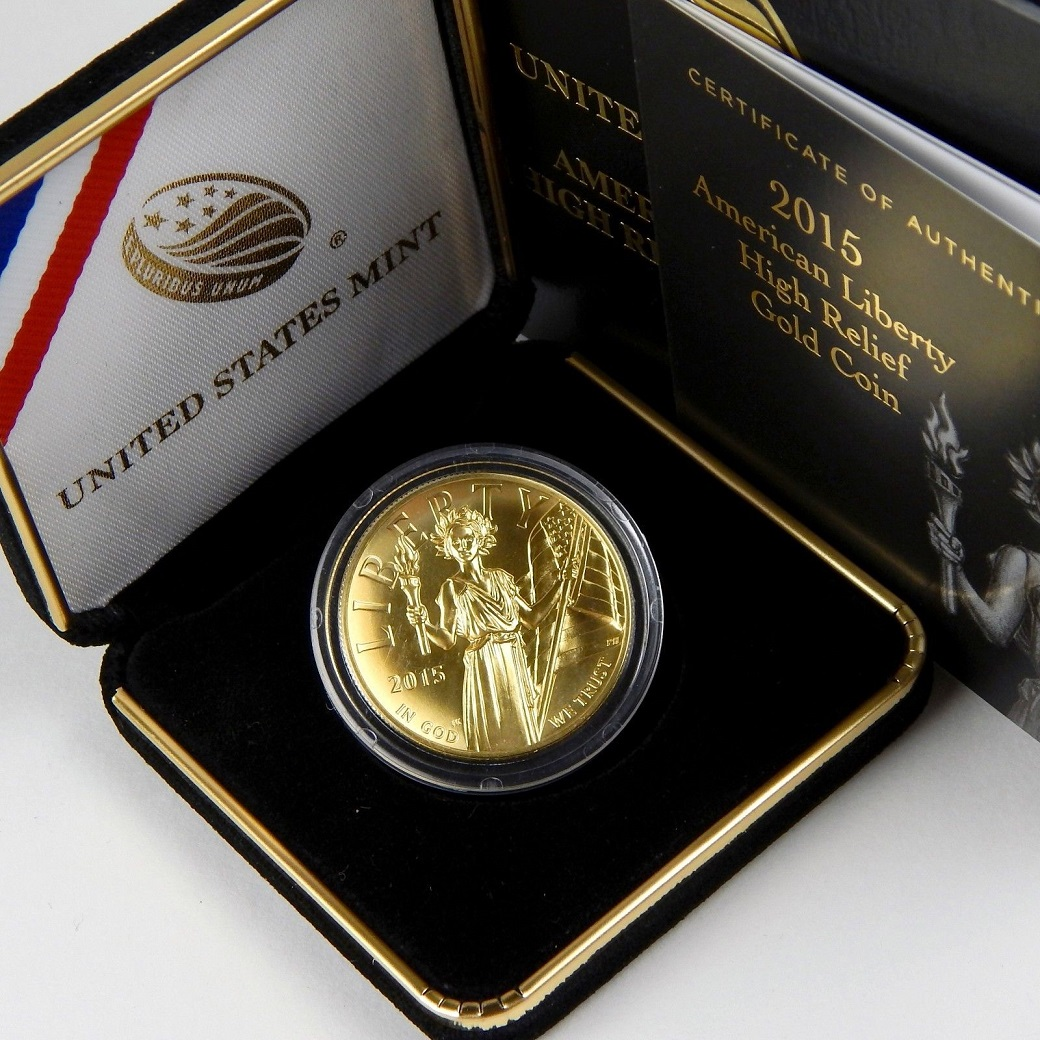 100 American Liberty 2015 W High Relief Gold 1 Oz 9999