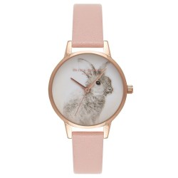 Woodland Bunny Dusty Pink Watch by Olivia Burton