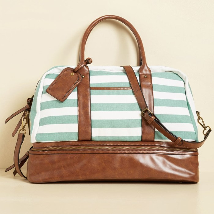 Striped Pack to Back Beach Weekend Bag