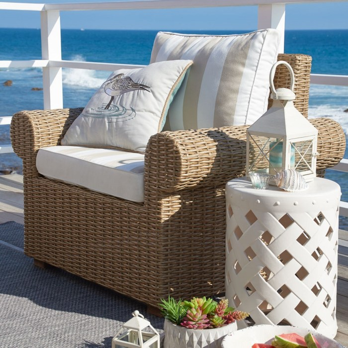 Echo Beach Collection Sand Roll Armchair
