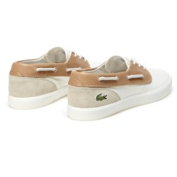 Lacoste Jouer Canvas And Leather Men's Boat Shoes