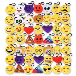 Mini Emoji Keychain Pillows Set of 50
