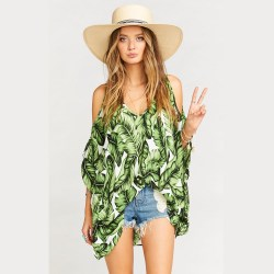 Peta-Boo Palm Print Tunic by Show Me Your MuMu