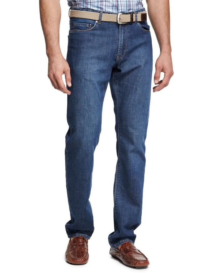 Peter Millar Crown Indigo Classic Mens Straight-Leg Jeans
