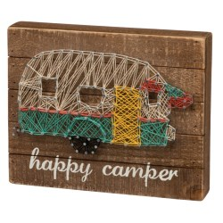Happy Camper String Art Box Sign