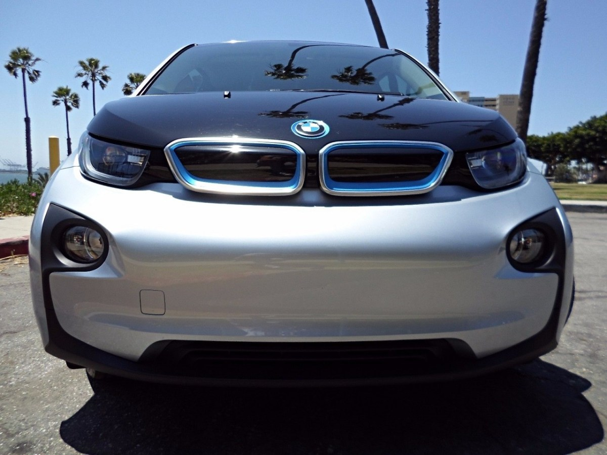 2014 BMW i3 Hatchback iFrozen Blue Electric Car