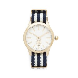 Tory Burch The Collins Grosgrain Womens Watch