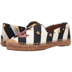 Dolce & Gabbana Brocade Espadrille Shoes with Anchor & Stars